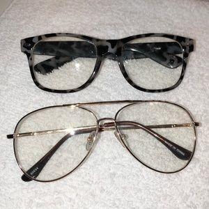 2 Pairs Of Transparent Glasses